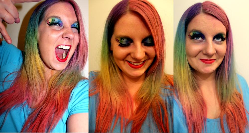 Hair Chalk Rainbow DieCheckerin