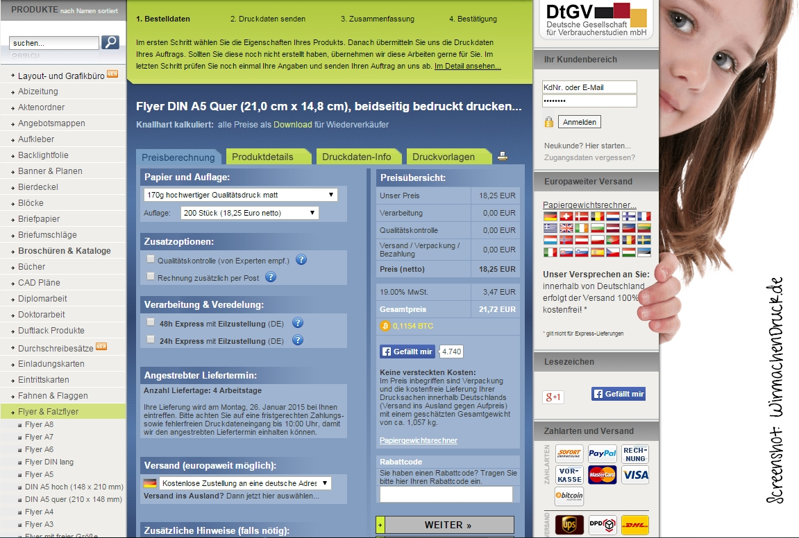 Heftig Online Druckerei Macht Druck Diecheckerin De