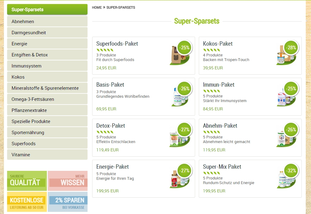 Super-Sparsets greenSUPPS