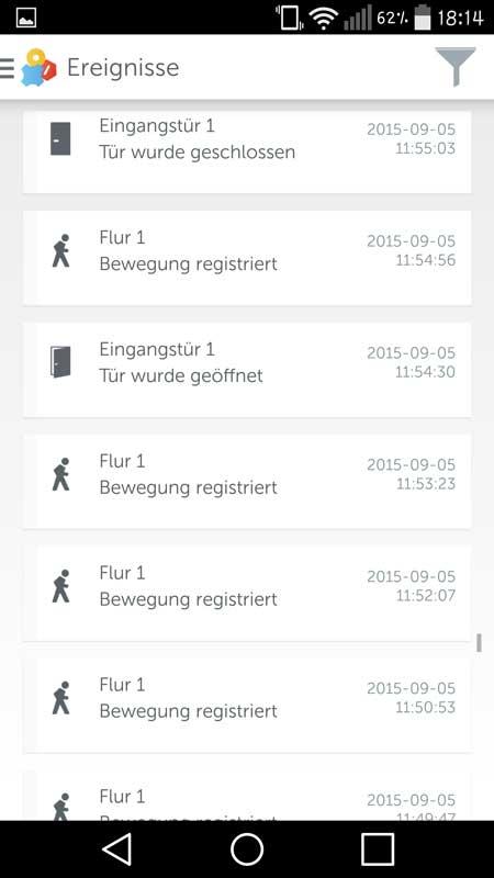 Gigaset-Elements-App-Ereignisse