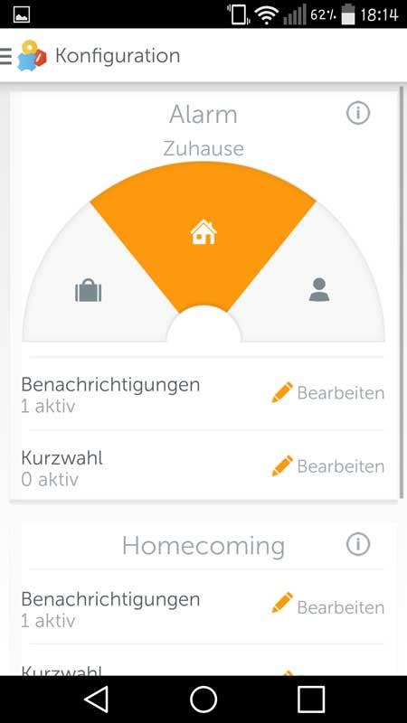 Gigaset-Elements-App–Konfiguration