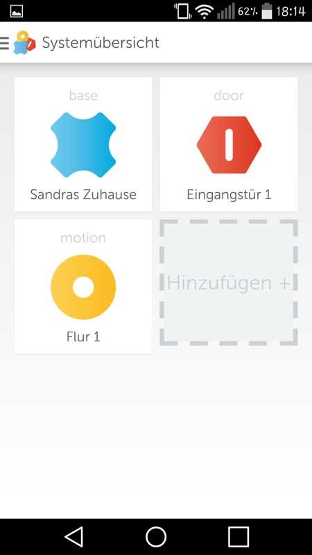 Gigaset-Elements-App-Systemübersicht