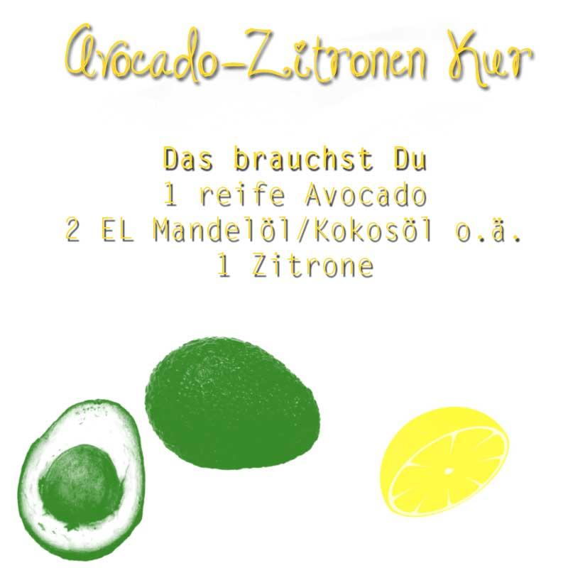 Avocado-Zitronen-Kur