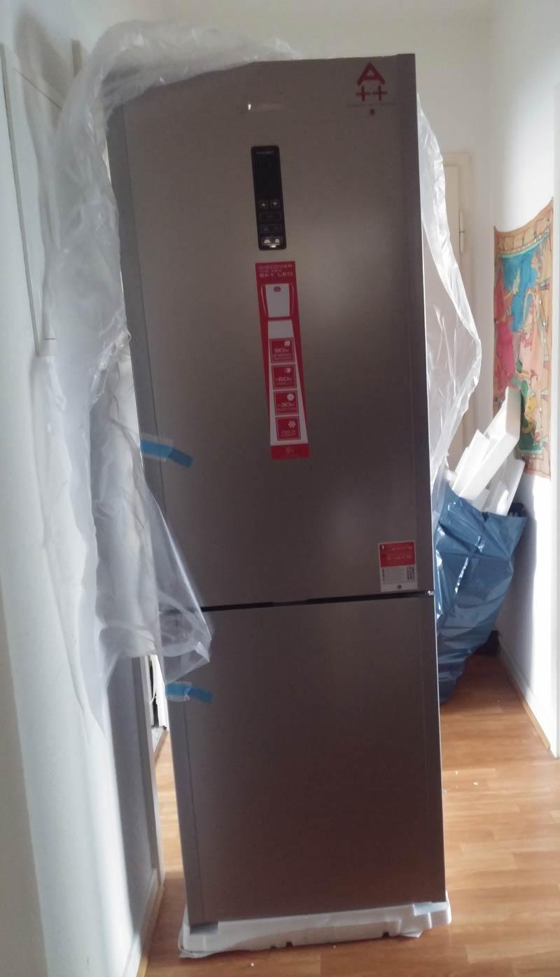 Kühl-Gefrierkombi-Verpackung
