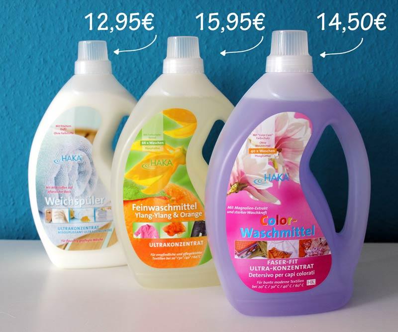 Haka-Waschmittel-Haka-Weichspüler