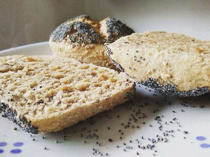 Vollkornbrötchen vegan wie vom Bäcker
