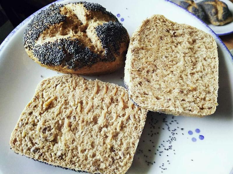 Vollkornbrötchen vegan selber machen wie vom Bäcker
